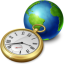128x128px size png icon of network clock