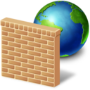 128x128px size png icon of network firewall