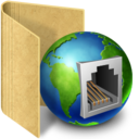 128x128px size png icon of network plug