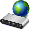 128x128px size png icon of network usb hub