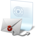 128x128px size png icon of seal secure email