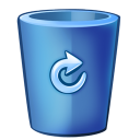 128x128px size png icon of bin blue full