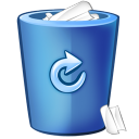 128x128px size png icon of bin blue
