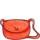 128x128px size png icon of kiki bag closed