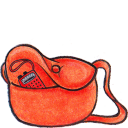 128x128px size png icon of kiki bag radio