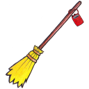128x128px size png icon of kiki broom radio