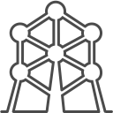 128x128px size png icon of brussels atomium