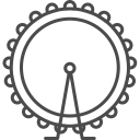 128x128px size png icon of london wheel
