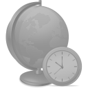 128x128px size png icon of Network time disabled