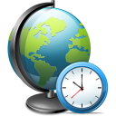128x128px size png icon of Network time