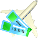 128x128px size png icon of Air tickets