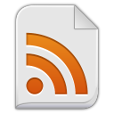 128x128px size png icon of app rss plus xml