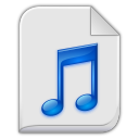 128x128px size png icon of audio x generic