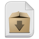 128x128px size png icon of package x generic