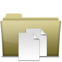 128x128px size png icon of Folder Documents Brown