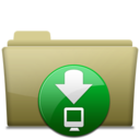 Folder Download Brown Icon