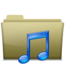 Folder Music Brown Icon