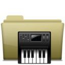 128x128px size png icon of Folder Music alt Brown