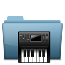 128x128px size png icon of Folder Music alt