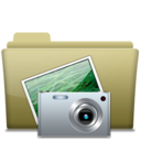 Folder Pictures Brown Icon