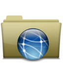 128x128px size png icon of Folder Remote Brown