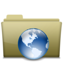 Folder Web Brown Icon