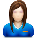 128x128px size png icon of user female