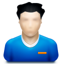 128x128px size png icon of user male