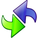 128x128px size png icon of Mobile Syncronization