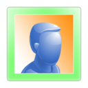 128x128px size png icon of Person Online