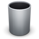 128x128px size png icon of Dock Trash Empty
