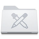 128x128px size png icon of Folder Apps White