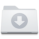 128x128px size png icon of Folder Downloads White