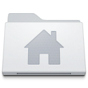128x128px size png icon of Folder Home Alternate White