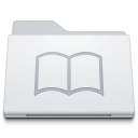 128x128px size png icon of Folder Library White