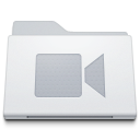 Folder Movies White Icon