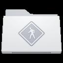 128x128px size png icon of Folder Public White