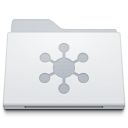 128x128px size png icon of Folder Server White