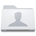 128x128px size png icon of Folder Users White