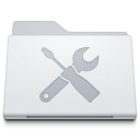 128x128px size png icon of Folder Utilities White