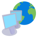 128x128px size png icon of ModernXP 01 Network