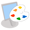 128x128px size png icon of ModernXP 12 Workstation Desktop Colors