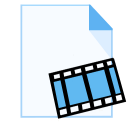 128x128px size png icon of ModernXP 18 Filetype Movie