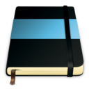 128x128px size png icon of moleskine blue 512