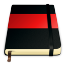 128x128px size png icon of moleskine red 512