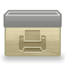 128x128px size png icon of Folder Printer