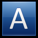 128x128px size png icon of Letter A blue