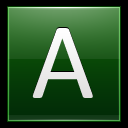 128x128px size png icon of Letter A dg