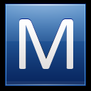 128x128px size png icon of Letter M blue