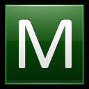 128x128px size png icon of Letter M dg